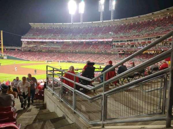 Great American Ball Park, vak: 112, rij: NN, stoel: 1