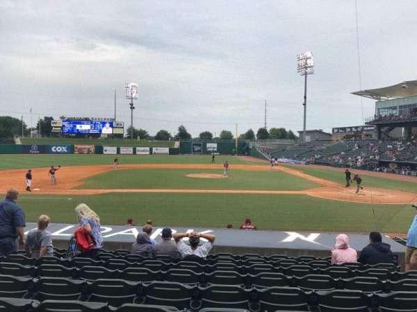 Arvest Ballpark, vak: 115, rij: N, stoel: 6