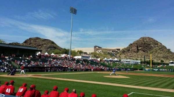 Tempe Diablo Stadium, vak: 17, rij: F, stoel: 11