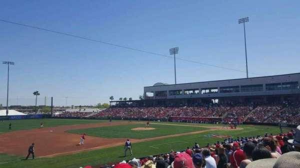 Tempe Diablo Stadium, vak: 3, rij: W, stoel: 9