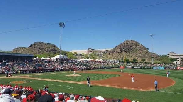 Tempe Diablo Stadium, vak: 19, rij: S, stoel: 3