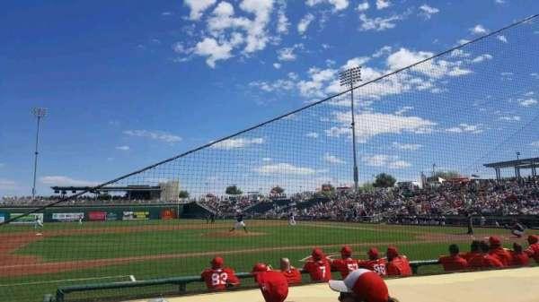 Goodyear Ballpark, vak: 107, rij: G, stoel: 6