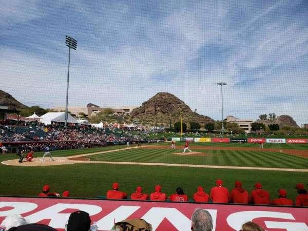 Tempe Diablo Stadium, vak: 16, rij: H, stoel: 7
