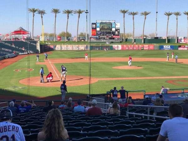 Goodyear Ballpark, vak: 114, rij: X, stoel: 7