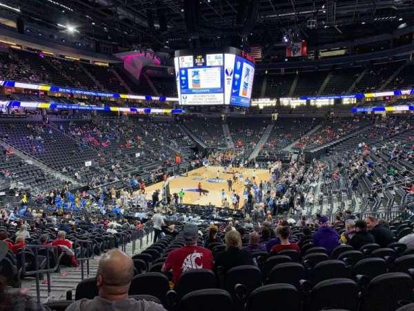 T-Mobile Arena, vak: 2, rij: W, stoel: 3
