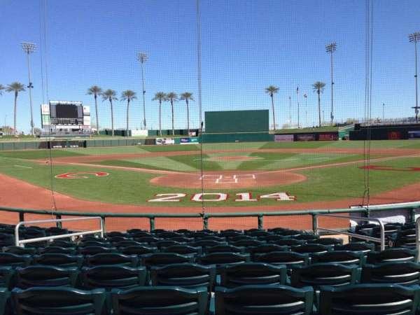 Goodyear Ballpark, vak: 112, rij: L, stoel: 5