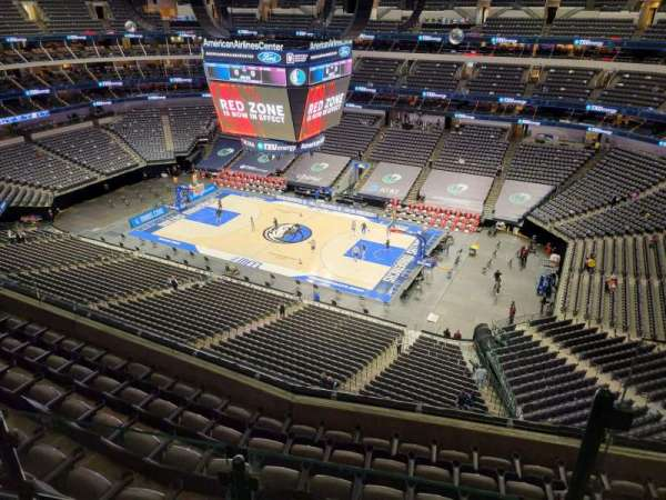 American Airlines Center, vak: 307, rij: G, stoel: 1