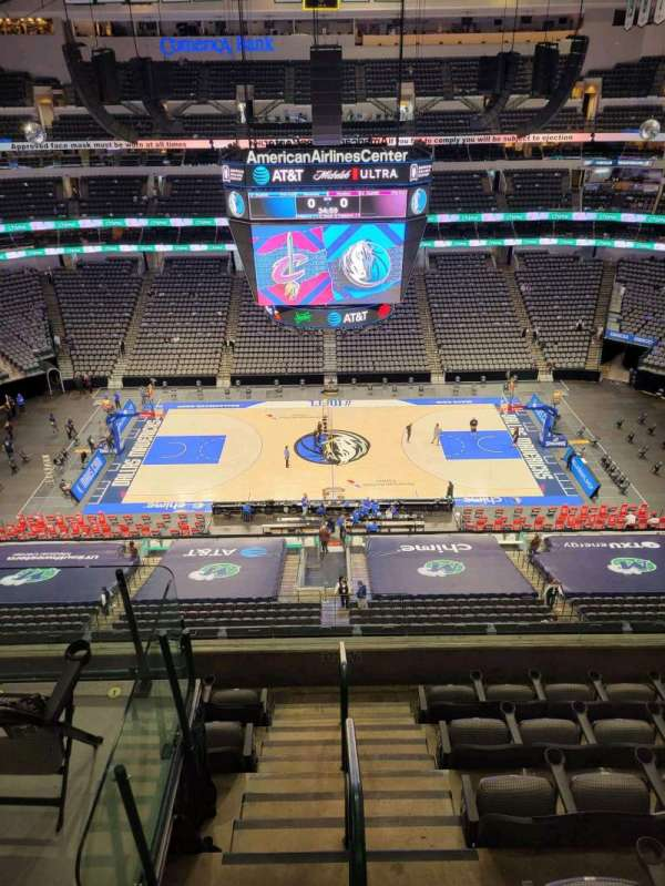 American Airlines Center, vak: 326, rij: F, stoel: 8