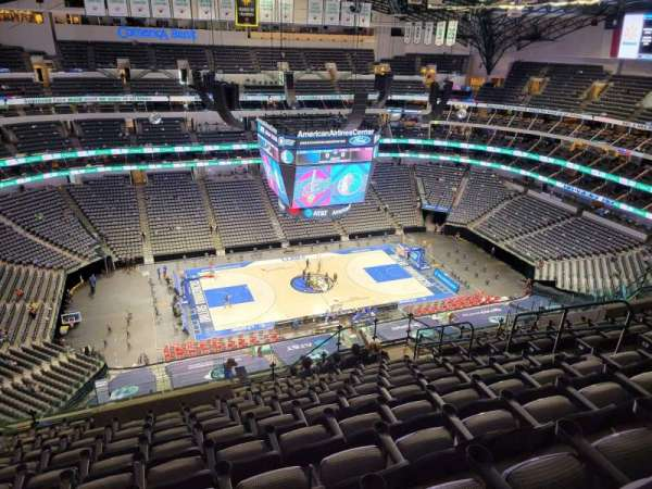 American Airlines Center, vak: 328, rij: S, stoel: 10