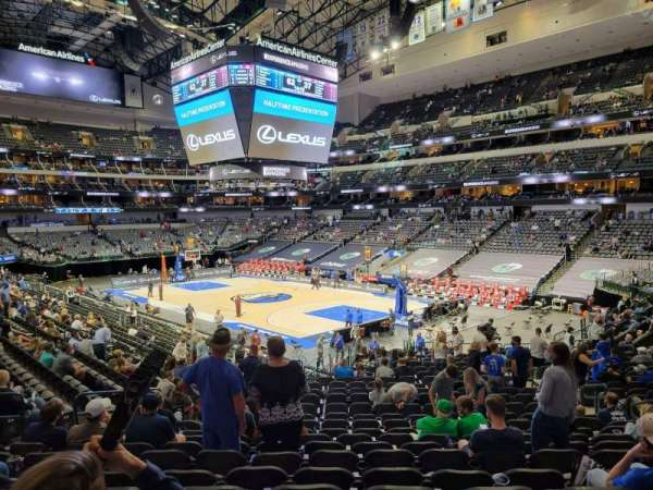 American Airlines Center, vak: 102, rij: Y, stoel: 10