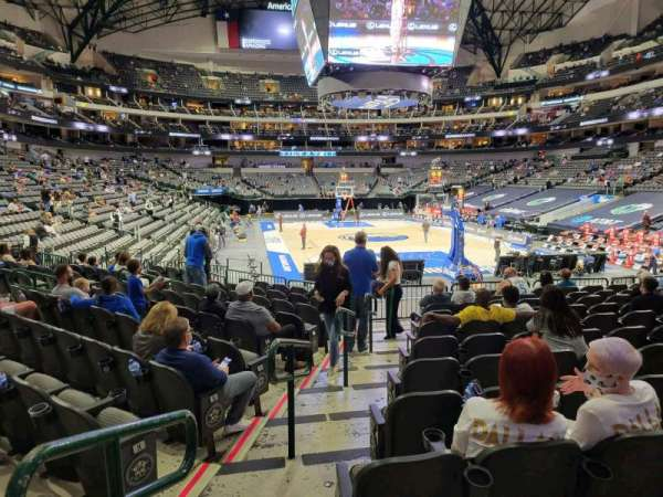 American Airlines Center, vak: 101, rij: M, stoel: 19