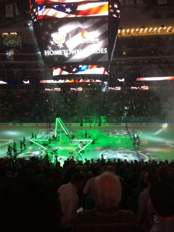 American Airlines Center, vak: 118, rij: Z, stoel: 8