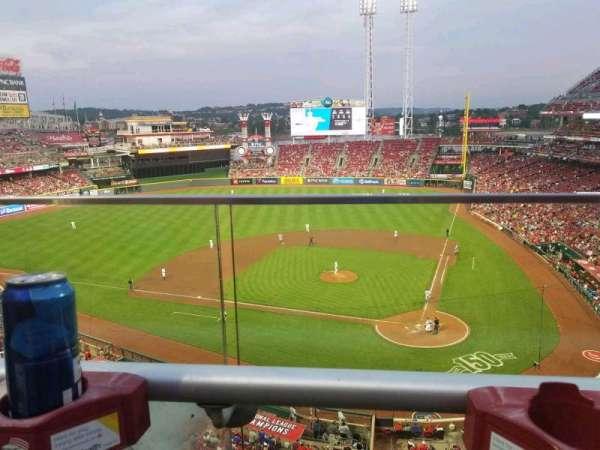 Great American Ball Park, vak: 420, rij: A, stoel: 5