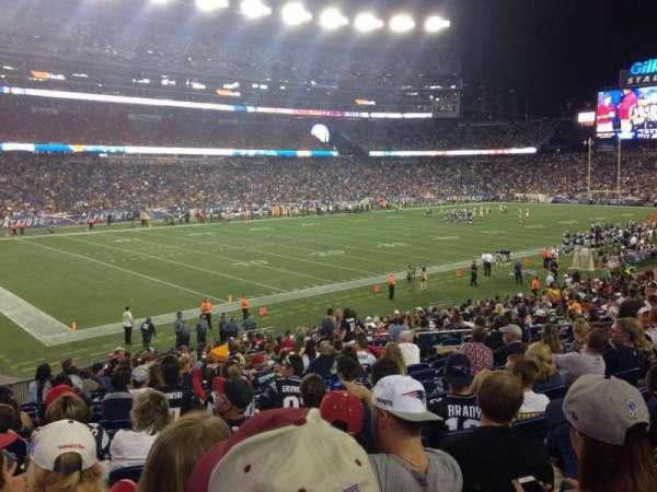 Gillette Stadium, vak: 115, rij: 26, stoel: 15