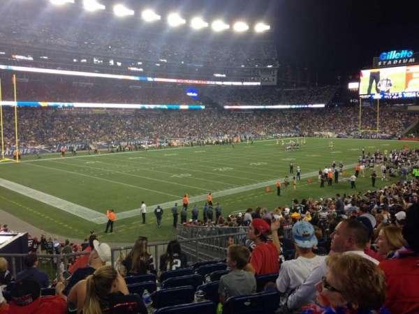 Gillette Stadium, vak: 116, rij: 28, stoel: 7