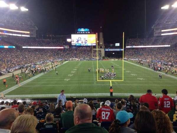 Gillette Stadium, vak: 121, rij: 33, stoel: 8