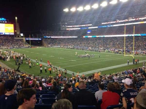 Gillette Stadium, vak: 124, rij: 29, stoel: 15