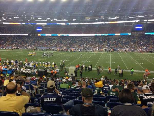 Gillette Stadium, vak: 129, rij: 25, stoel: 18