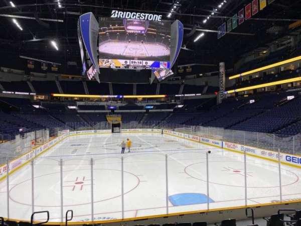 Bridgestone Arena, vak: 120, rij: Mm, stoel: 9