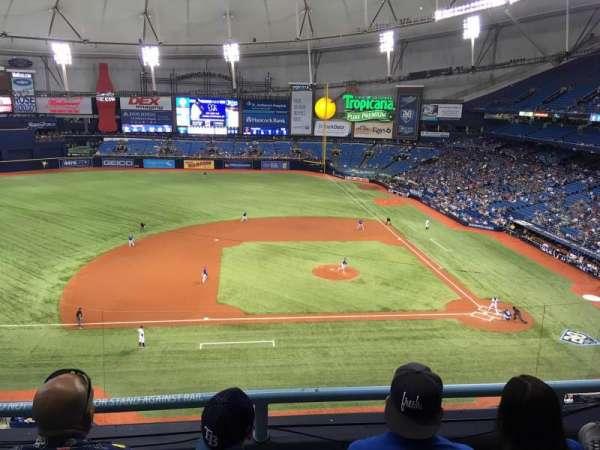 Tropicana Field, vak: 311, rij: C, stoel: 16