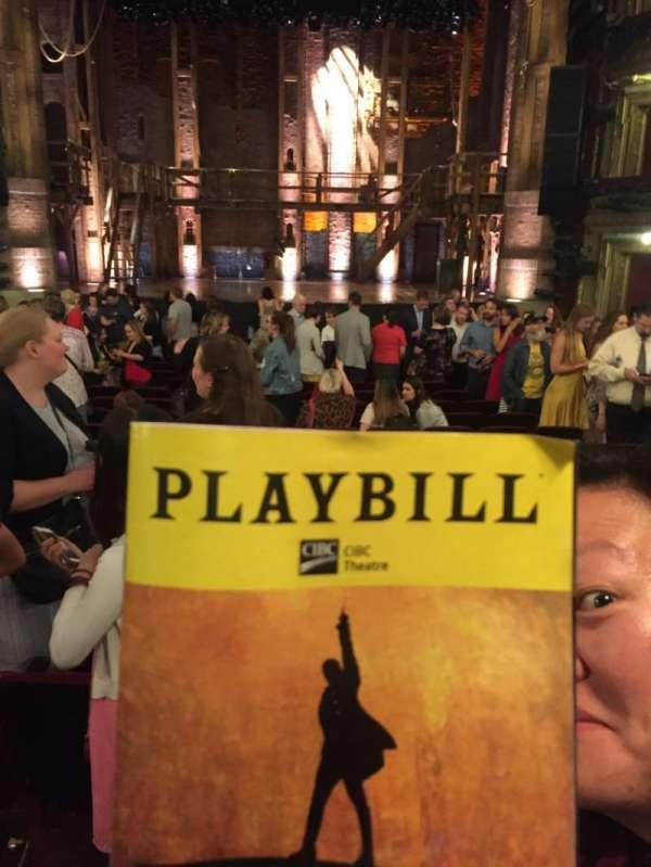 CIBC Theatre, vak: Orch C, rij: V, stoel: 111