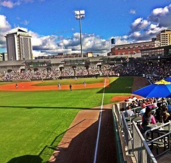 Montgomery Riverwalk Stadium, vak: Left Field Standing Rail