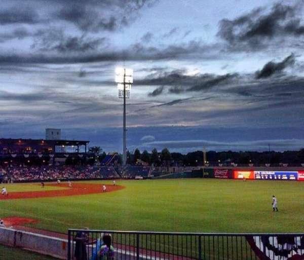 Montgomery Riverwalk Stadium, vak: lawn