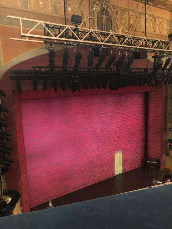 Shubert Theatre, vak: Balcony, rij: A, stoel: 15