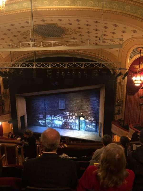 Bernard B. Jacobs Theatre, vak: Rear Mezz, rij: K, stoel: 8