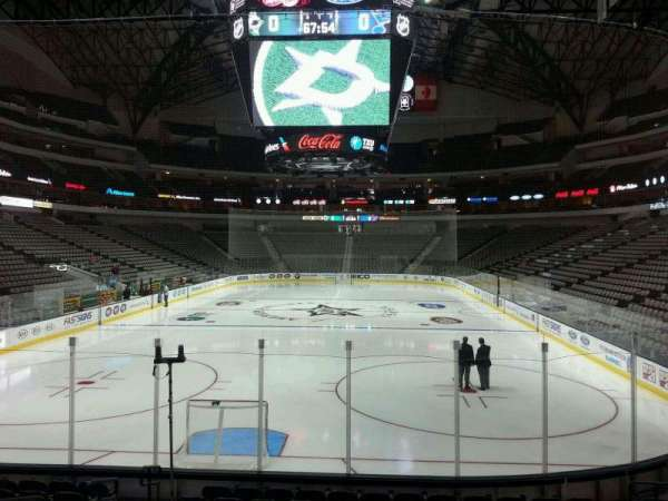American Airlines Center, vak: 112, rij: M, stoel: 15