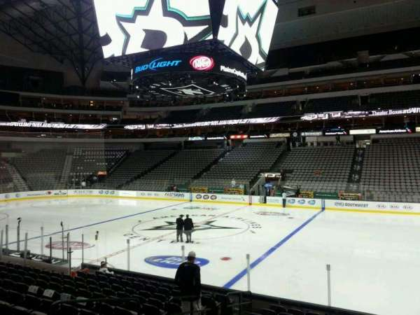 American Airlines Center, vak: 105, rij: N, stoel: 12