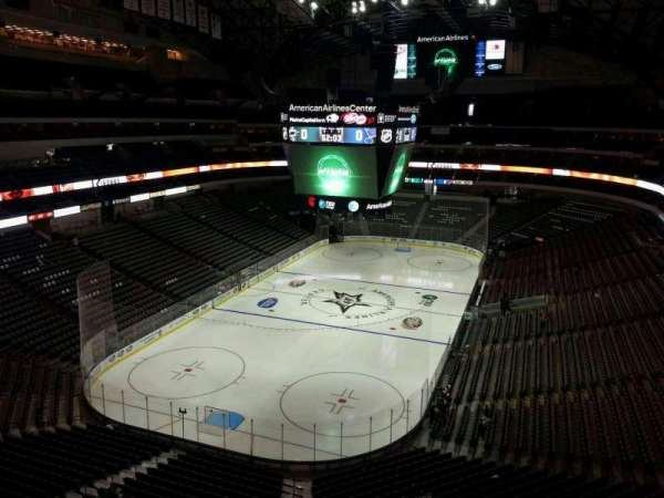 American Airlines Center, vak: 333, rij: EE, stoel: 8
