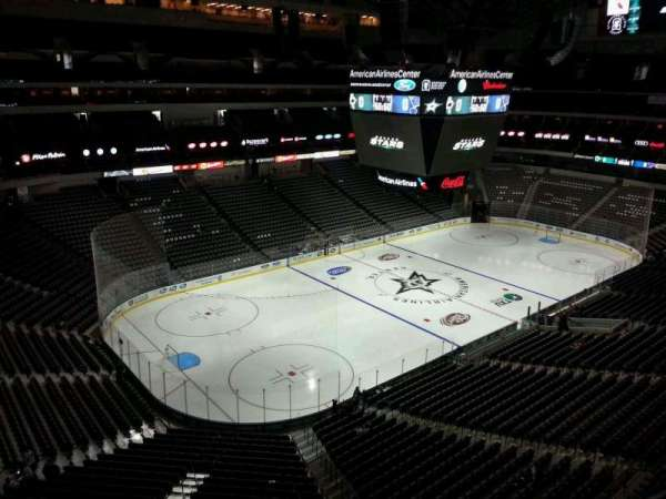 American Airlines Center, vak: 331, rij: A, stoel: 1