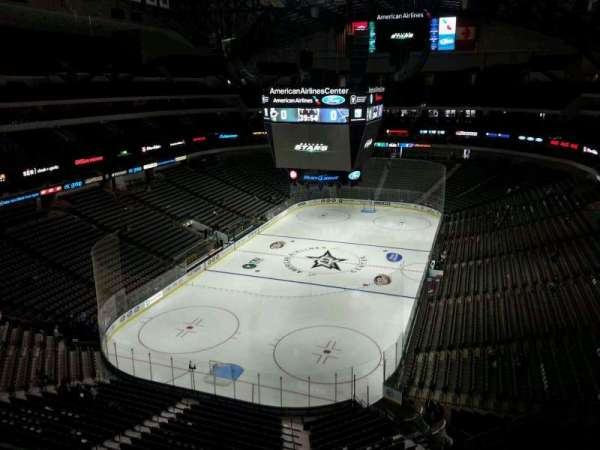 American Airlines Center, vak: 316, rij: D, stoel: 16