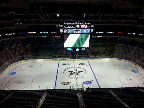 American Airlines Center, vak: 310, rij: F, stoel: 15