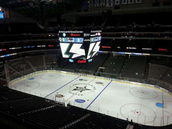 American Airlines Center, vak: 307, rij: C, stoel: 16