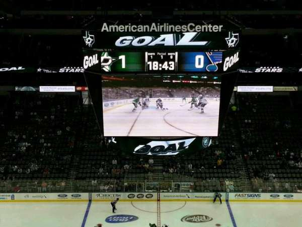 American Airlines Center, vak: 326, rij: G, stoel: 9