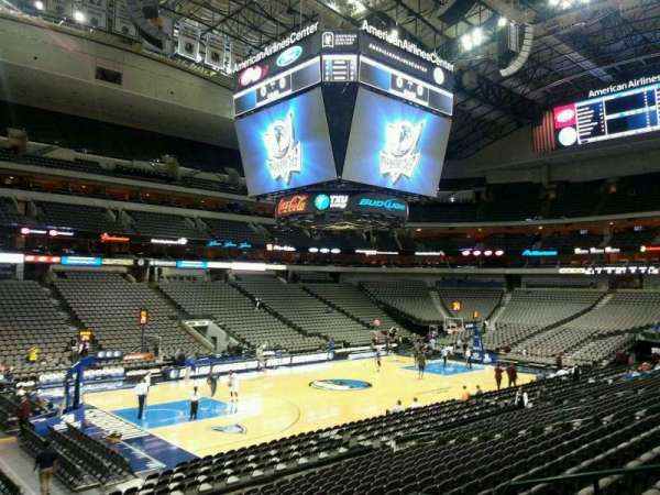 American Airlines Center, vak: 109, rij: S, stoel: 9