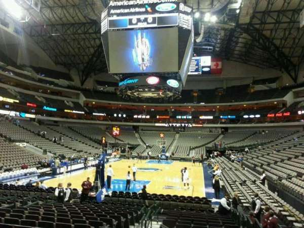 American Airlines Center, vak: 112, rij: F, stoel: 3