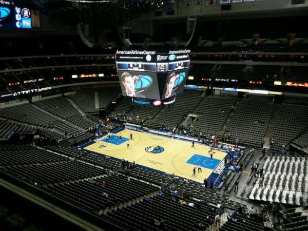 American Airlines Center, vak: 307, rij: D, stoel: 10