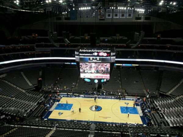 American Airlines Center, vak: 310, rij: J, stoel: 1