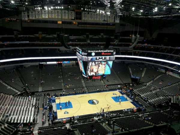American Airlines Center, vak: 328, rij: M, stoel: 3