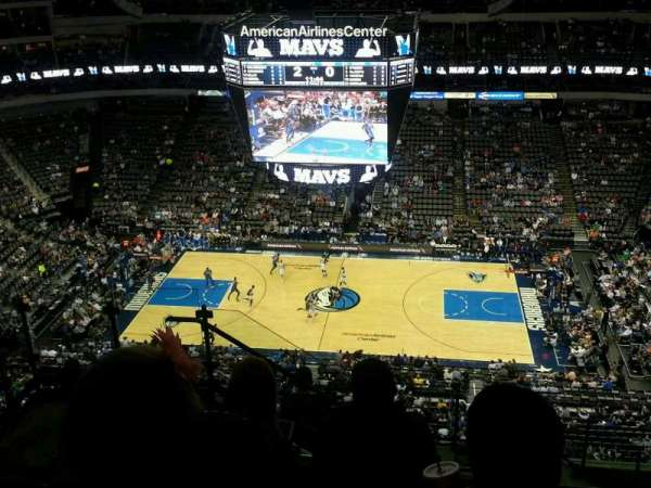 American Airlines Center, vak: 309, rij: L, stoel: 15