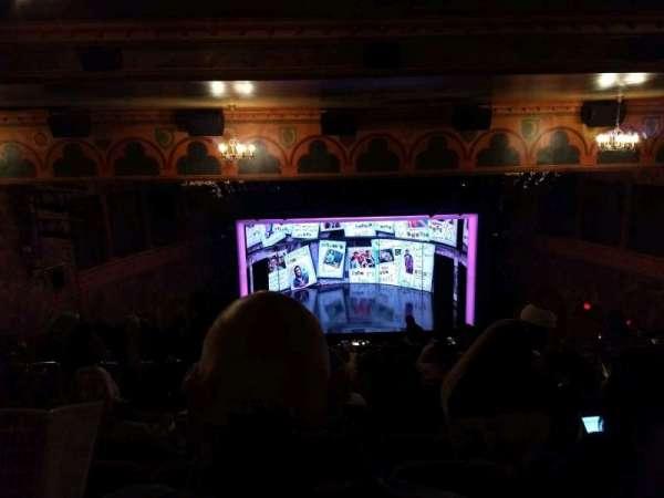 August Wilson Theatre, vak: Mezzanine C, rij: Q, stoel: 113