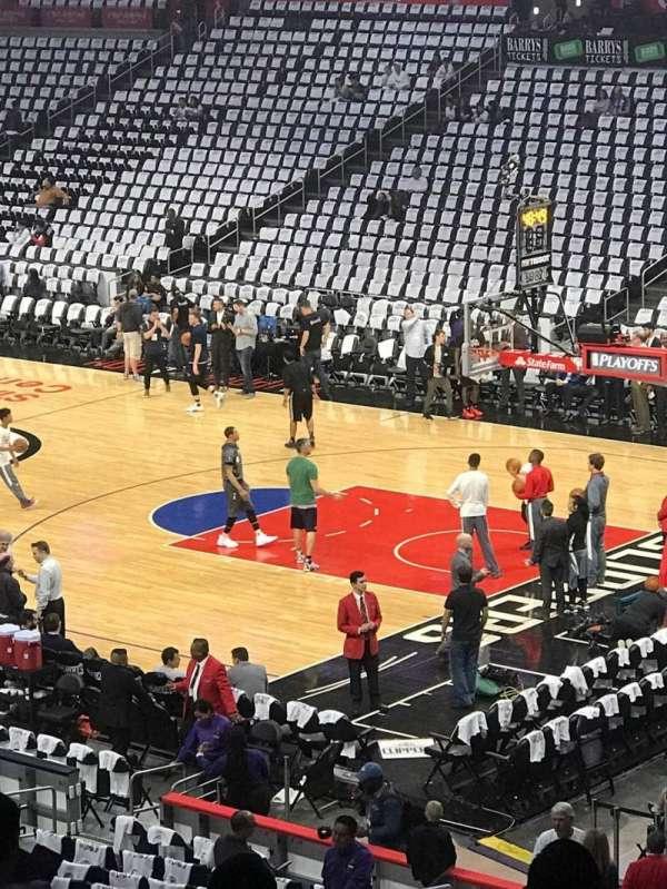 Staples Center, vak: PR3, rij: 10, stoel: 5