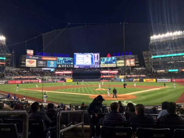 Yankee Stadium, vak: 121A, rij: 7, stoel: 1