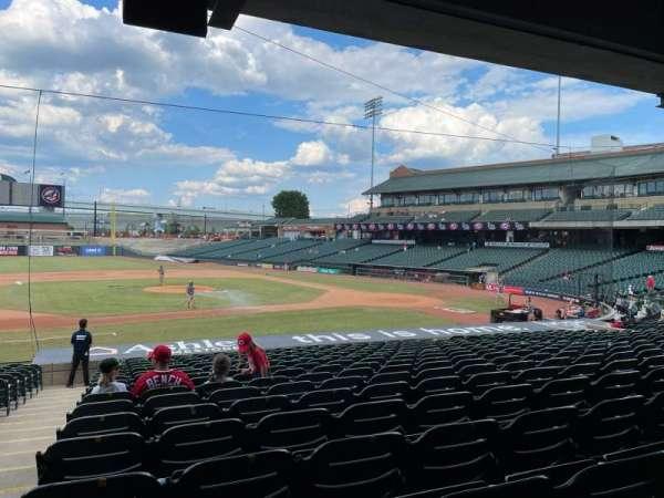 Louisville Slugger Field, vak: 120, rij: W, stoel: 17