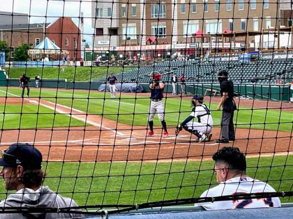 Bowling Green Ballpark, vak: 113, rij: D, stoel: 1