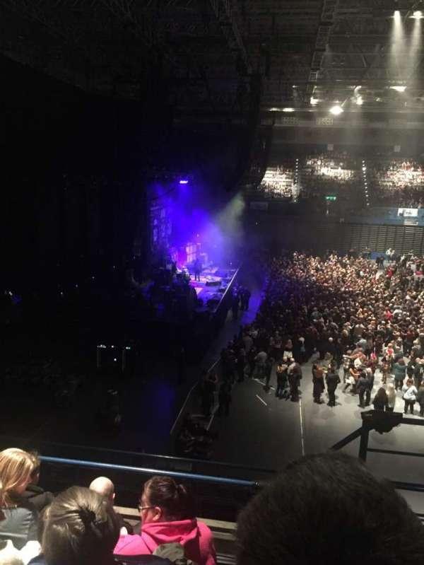 Arena Birmingham, vak: 11, rij: EE, stoel: 455