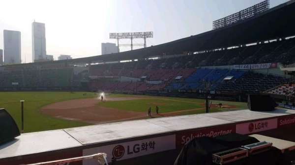 Jamsil Baseball Stadium, vak: 221, rij: 3, stoel: 22